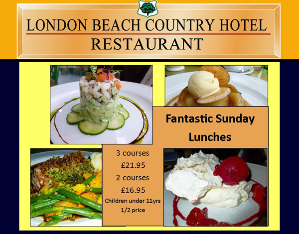 Win a 3 Course Sunday Lunch at the London Beach Hotel