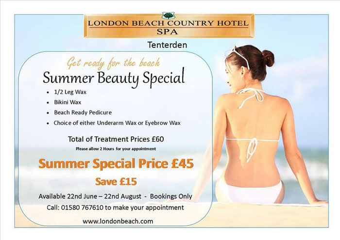 London Beach July Offer